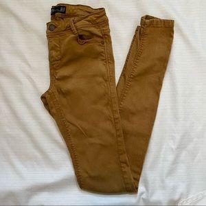 Zara mustard-gold skinny jeans, 2